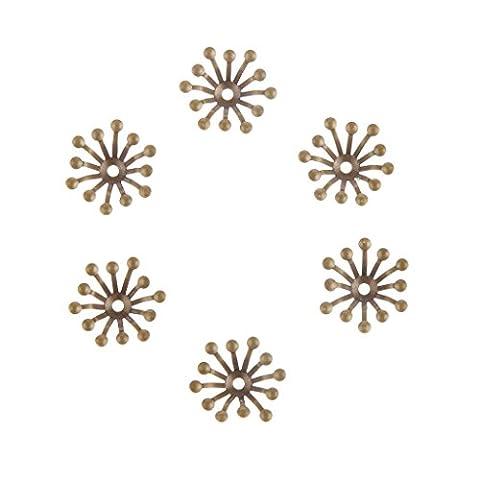 100pcs 13mm Capuchon de Pétale en Cuivre pour Fabrication de Bijoux Diy Collier Perles - Bronze