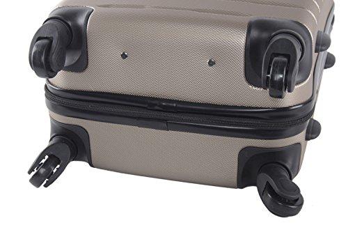 3 Maletas rígidas PIERRE CARDIN bronce 4 ruedas cabina para viajes VS23
