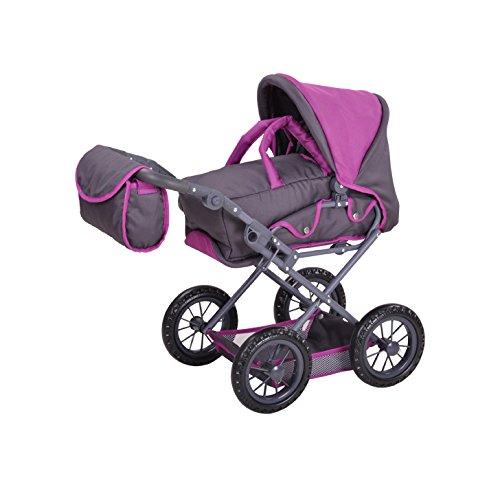 Knorrtoys 63182 63182-Puppenwagen Ruby tec Purple Puppenwagen