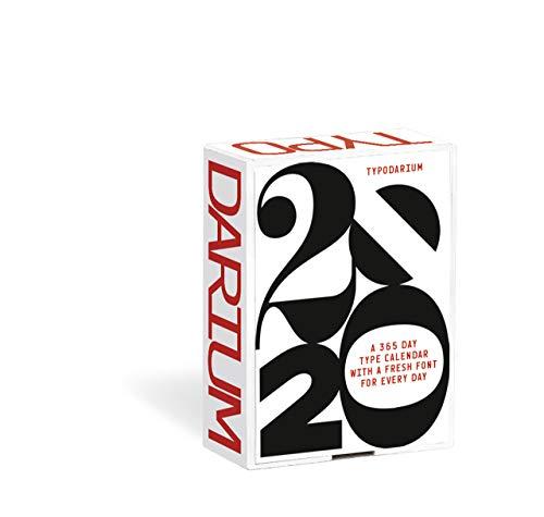 Typodarium 2020: Ein Tages-Abreißkalender mit 366 frischen Fonts von 244 Designern aus 33 Ländern par Raban Ruddigkeit