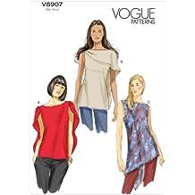 Vogue V8907 - Patrón de costura para confeccionar blusas de mujer