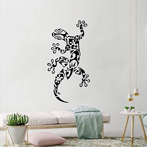 Hwhz 42 X 81 Cm Tier Eidechse Wandtattoo Gecko Ornament Vinyl Wandaufkleber Dekoration Coole Tier Wand Poster Entfernbare Wandkunst