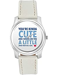 BigOwl I Kinda Like You A Little | For Him/Her Fashion Watches For Girls - Awesome Gift For Daughter/Sister/Wife...