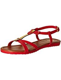 BATA Women's Jenny Red Fashion Sandals - 6 UK/India (39 EU)(5615402)
