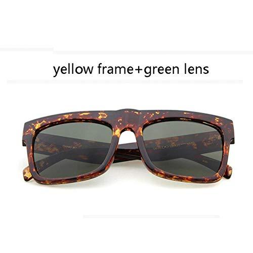 YLNJYJ Übergroße Quadratische Sonnenbrille Frauen Luxusmarke Vintage Sonnenbrille Designer Black Shades Promi Kim Kardashian Sonnenbrille Männer