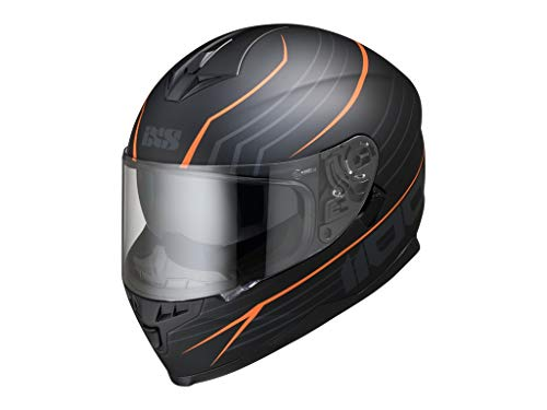 IXS 1100 2.1 Integralhelm aus Polycarbonat - matt schwarz orange