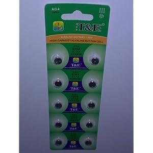 10x AG 4 Uhrenbatterie 377 626 für Armbanduhr Knopfzelle