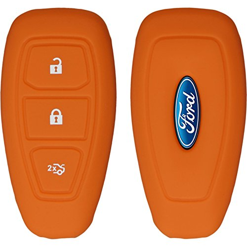 phonenatic-silikon-schlussel-hulle-fur-die-ford-mondeo-fusion-3-tasten-fernbedienung-in-orange-funks