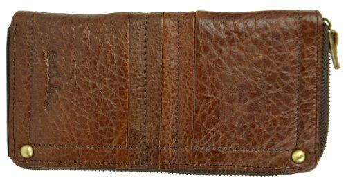 Gusti Cuir nature porte-monnaie portefeuille argent permis de conduire carte de visite carte de crédit loisirs brun foncé homme femme A33