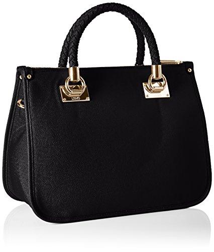 Liu Jo Damen Shopping Bag Schultertaschen, 35 x 26 x 16 cm Schwarz (Black 22222)