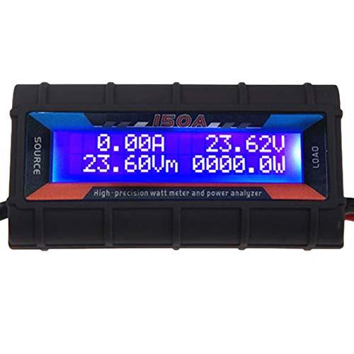 VIPMOON 150 Ampere Leistungsanalysator, G.T. Power RC Watt Meter mit LCD Bildschirm, für RC, Batterie, Solar, Windenergie