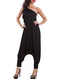 Toocool Overall donna harem turca pantaloni tutina tuta monospalla fiocco  nuovo FI-2610 b844c504043