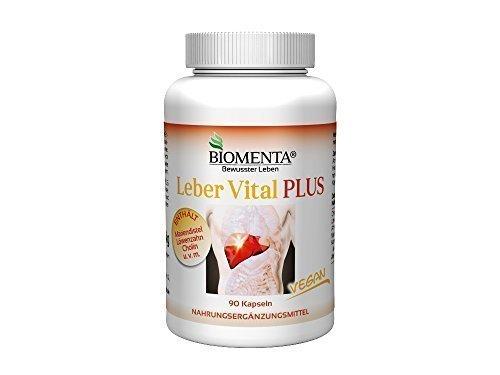 Biomenta® LEBER VITAL PLUS - mit MARIENDISTEL, CHOLIN , LÖWENZAHN, WERMUT, KURKUMA, ARTISCHOCKEN– 90 VEGANE Leber-Kapseln - Leber-Vitamine