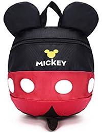 HZX Store. Mochila con diseño de Disney Mickey Mouse y con correa con arnés de