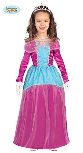 Preisvergleich Produktbild Guirca Disney Prinzessin Kostüm für Kinder 7 / 9 Jahre,  Rosa und Hellblau,  7-9 (125-135 cm),  82714