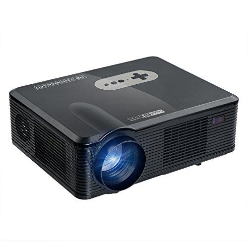 Beamer, Blusmart LCD Video-Projektor mehrere Heimkino Beamer und 1080p mit 1280 x 800 Pixel mit Free HDMI Kabel unterstützt TV Laptop Android iPhone Smartphone