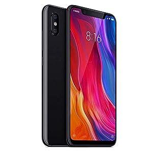 """Xiaomi Mi 8 - Smartphone de 6.21"""" (Octa-Core Kryo 2.8 GHz, RAM de 6 GB, Memoria de 64 GB, cámara de 20 MP, Android 8.0) Color Negro [Versión española]"""