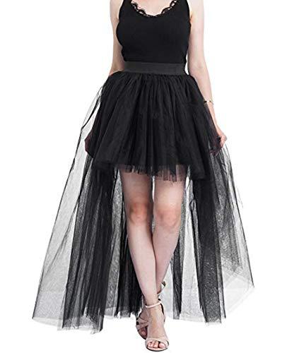 Damen Röcke Steampunk Gothic Viktorianisch Irregulär Cocktail Party Chiffon Rock Cosplay Kleid