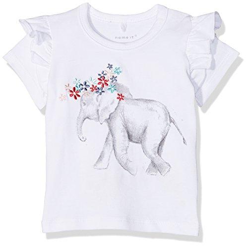 Ss-stretch-shirt (NAME IT Baby-Mädchen T-Shirt NBFGAKA SS TOP Weiß (Bright White) 56)