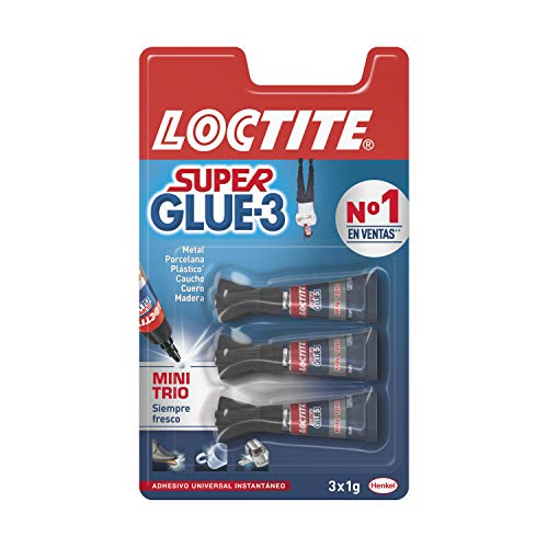 Loctite Super Glue-3 Original Mini Trio, pegamento universal con triple resistencia, adhesivo...