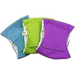 Pet Magasin luxuriöse Hunde Bauchgürtel Extra Komfortabel (3er Pack) - Waschbare & Wiederverwendbare Bauchwindeln für männliche Hunde, Katzen oder andere kleine Haustiere (S, BASISCHE FARBE)