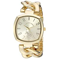 U.S. Polo Assn. Women's Quartz Metal and Alloy Casual Watch, Color:Gold-Toned (Model: USC40250AZ)