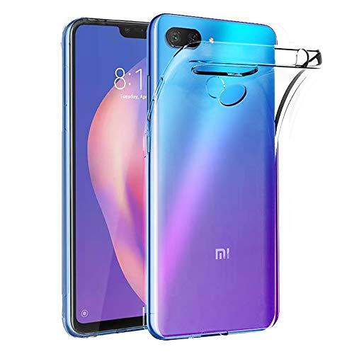 Ferilinso Coque pour Xiaomi Mi 8 Lite, Ultra Mince résistant aux Rayures Crystal Clear Silicone TPU Rubber Soft Skin Housse de Protection en Silicone pour Xiaomi Mi 8 Lite (Transparent)