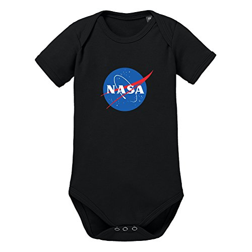 Shirtworld, body per neonato con logo nasa nero nero  00-02 monate