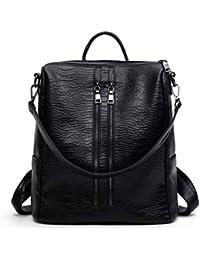 Patrón de cocodrilo de moda bandolera multifunción PU bolsa de cubo mochila al aire libre casual
