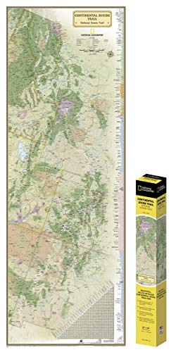 National Geographic Continental Divide Trail Wall Map In Gif T Box (National Geographic Reference Map) (Continental Karten)