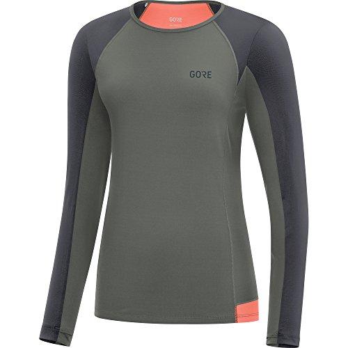 GORE WEAR Atmungsaktives Damen Langarm Laufshirt, R5 Women Long Sleeve Shirt, 36, Grau/Dun Preisvergleich