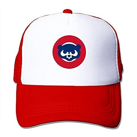 Candi pour homme de baseball Cub Filet de protection en Sports hip-hop Flexfit Noir, Homme, Red