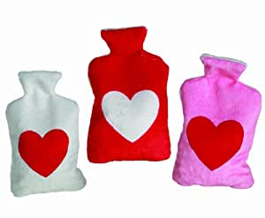 Pink Cherry Stone Heart Hot Bottle - Works the same as a hot water bottle - Womans Perfect Ideal Christmas Present / Gift / Stocking Filler Ideal Gift for The Gardener