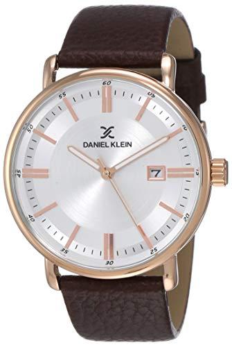 Daniel Klein Analog Silver Dial Men's Watch-DK12012-5