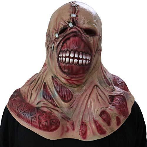 S+S Unheimlich Halloween Zombie Glatze Tyrann Maske Horror Kammer Spukhaus Requisiten Resident Evil Ghost Mask Kopfbedeckung Halloween Kostüm Party One Size