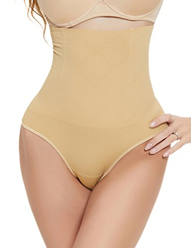 Aibrou Damen Shapewear Miederslip Miederhose Taillenmieder Bauchweg Unterwäsche Miederpants Unterhose Hochtaille G String Test