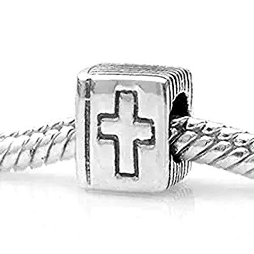 Heilige Bibel Charme 925Sterling Silber Kreuz Charm Christian Religion Charm Keep Faith Charm Buch Charm Christmas Charm für Pandora-Charms Armband