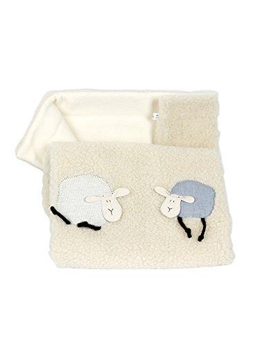 Baby-Schafwolldecke (Schaf schwarz)