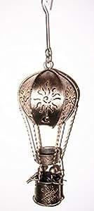 En forme de montgolfière-Bougeoir bougie chauffe-plat, S-23 cm, finition dorée
