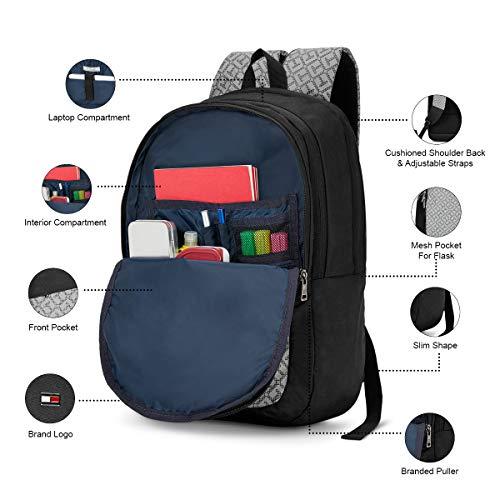 Best tommy hilfiger backpack in India 2020 Tommy Hilfiger 19.53 Ltrs Black Laptop Backpack (TH/BIKOL01VIS) Image 6