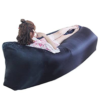Ishop Lazy Inflatable Air Bed Couch Sleeping Chair Sofa Lounger Bag for Camping Beach Picnic - inexpensive UK light store.