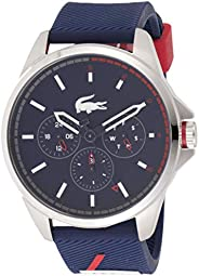 Lacoste Men's Blue Dial Silicone Band Watch - 201