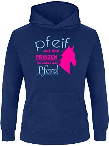 EZYshirt® Pfeif auf den Prinzen ich nehm das Pferd Kinder Hoodie Kapuzenpullover