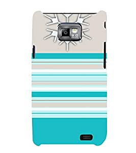 Blue Color Patterns 3D Hard Polycarbonate Designer Back Case Cover for Samsung Galaxy S2 :: Samsung Galaxy S2 i9100