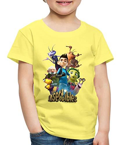 Insectibles Zak und Serienfiguren Kinder Premium T-Shirt, 110/116 (4 Jahre), Gelb