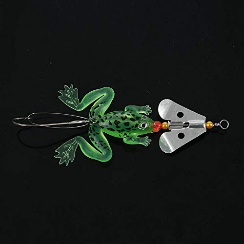 SLB Works 10X(Heng JIA 4 Soft Plastic Spinner with Hook Fishing Lure Bass Bream snap Y3M6