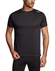 Rogelli Laufshirt Kurzarm Promo - Prenda, color negro, talla M
