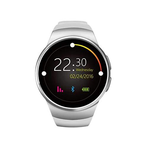 STEAM PANDA Intelligente Uhr Mit Herzfrequenzmesser Runde Zifferblatt Steckbare SIM-Karte Anruf Intelligente Uhren Für Frauen Gold Bluetooth 1,3 Zoll 240 * 240 Pixel 340mAh