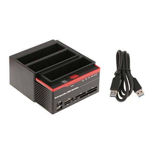 """non-brand MagiDeal Tres Bahías USB 3.0 2.5/3.5""""sata IDE HDD Tarjeta de Estación de Acoplamiento"""