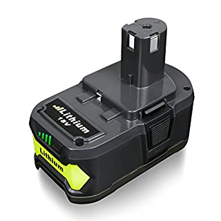 FLAGPOWER P108 18V 4.0AH Lithium Battery with Recharge Indicator for Ryobi ONE+ Compact Replacement P107 P122 P104 P105 P102 P103